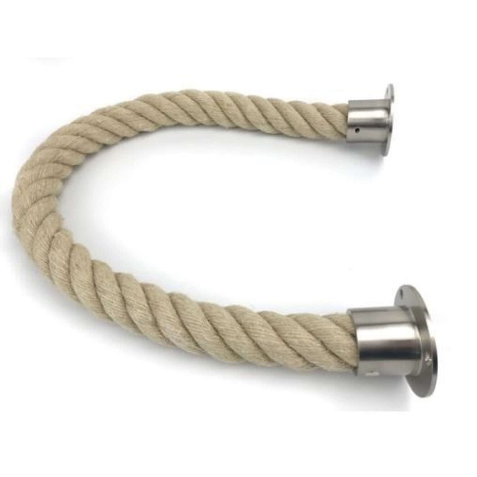 Natural Jute Barrier Rope With Cup Ends